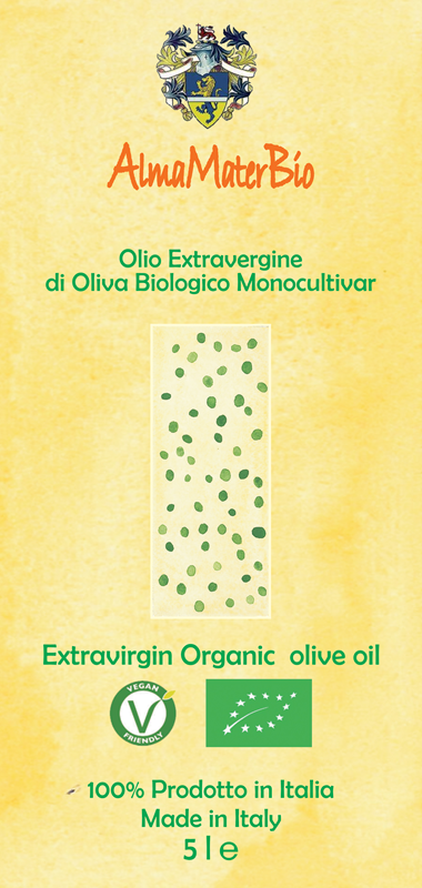 The organic extra-virgin olive oil label
